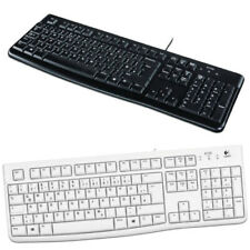 Logitech K120 PC Tastatur USB Computer Keyboard QWERTZ deutsch schwarz weiß neu