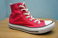 Converse Size 4 Womens All Stars Hi Top Chuck Taylor Red Ladies Trainers