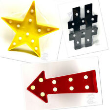 Signs Marquee LED Battery Plastic Metal Lights Star Hashtag Arrow Anchor Joy