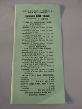 South Ronaldsay Bus Summer Time Table 1963