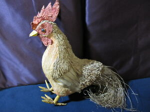 Rooster Decor Corn Husk