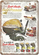 "Scott-Atwater Outboard Motors Vintage Boating 10"" x 7"" Reproduction Metal Sign"