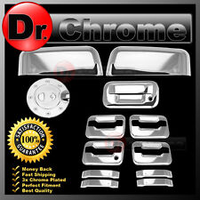 04-08 F150 Chrome HALF Mirror+4 Door Handle+no keypad+no KH+Tailgate+Gas Cover