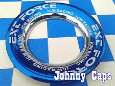 ICW RACING WHEELS BLUE & CRM Center Caps #E-115 Custom Wheel [15] Center Cap (1)