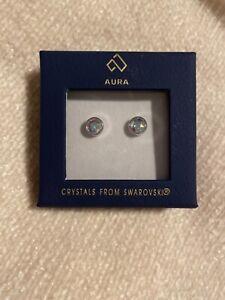 Aura Swarovski Crystal Stud Earrings - RRP £30
