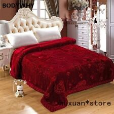 Wedding Home Textile Embroidery Blanket  Thick Fluffy Fat Comforter Mink Winter