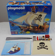 PLAYMOBIL #5778 SKULL PIRATE SHIP + BOX + INSTRUCTIONS (MISSING LOTS OF PIECES)