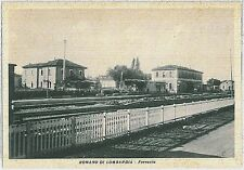 CARTOLINA d'Epoca  BERGAMO  - Romano di Lombardia : STAZIONE FERROVIARIA