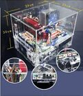 Dual Layers Clear Acrylic Computer Case, Can Work With Water Cooling System