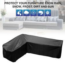 Waterproof Patio Garden Furniture Cover Outdoor Rattan Sofa Protector L Shape UK