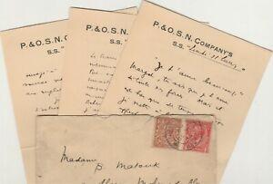 MALTA-ENGLAND Rare Paquebot Letterhead Tied British Stamps Cds Malta Cairo 34