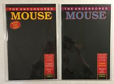 Uncensored Mouse Full Series Issues #1-2 Eternity Comics 1989 Mickey Mouse Deal!