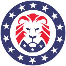 Patriot Party Lion Head Vinyl Die Cut Decal Window Sticker Color & Size Choice