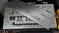 Roland TB 303 Folie silber - schwarz