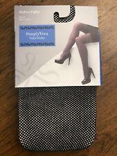 NWT Womens Vera Wang Simply Vera Fashion Tights Black Fishnet Size 2
