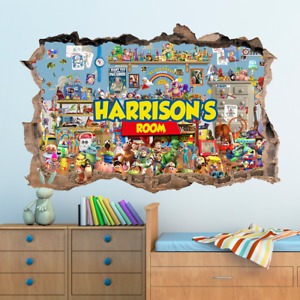 3D Disney Toy Story Hole In Wall Sticker Art Decal Decor Kids Bedroom Decoration