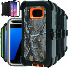 For Samsung Galaxy S7 S7 Edge Camo Hard Case Belt Clip Fits Otterbox Defender