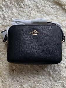 BNWZT COACH Mini Camera Bag In Black Leather 87734, New With Tags & Dustbag