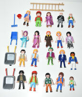 PLAYMOBIL Large Bundle of 20 Figures & Accessories Joblot Lot Geobra Wheelbarrow