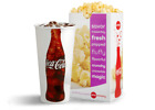 Qty 2 AMC Theaters LARGE DRINK and 2 LARGE POPCORN Gift Certificates w/ Pin 6/22