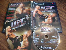 UFC Throwdown Playstation 2 PS2 video game ps COMPLETE ultimate fighting u f c