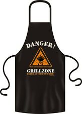 Grillschürze Kochschürze Küchenschürze Danger Grillzone RAHMENLOS Art. 2941