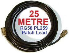 25m 82ft Rg58 pre-terminated Pl259 parche Plomo Cb Radio Amateur 20 Antena
