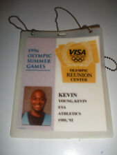 1996 OLYMPIC IDENTITY CARD ID CENTER KEVIN YOUNG USA HURDLE WR RECORD HOLDER