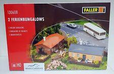 Faller H0 130608 2 Ferienbungalows - kit Construcción