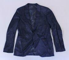 Topman Men's Skinny Leaf Print Suit Jacket Navy MM1 Size 40R NWT $190
