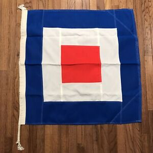 Signal Flag Letter W Maritime Nautical Size 6   (#NC18)