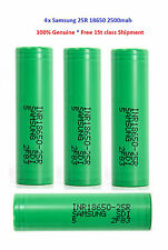 4x Genuine Samsung INR18650 25R Batteries 2500mAh 3.7v Rechargeable HD 20A , UK