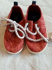 Zara Baby Infant Shoes Red Tropical Size 19