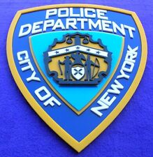 NYPD 3D SIGN ART Badge emblem car police Fire Department patch display NEW YORK