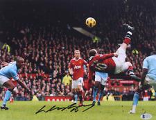 Wayne Rooney Signed Manchester United 11x14 Photo BAS Beckett COA ManU