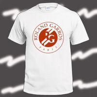 Roland Garros French Open Logo Men's White T-Shirt Size S-3XL