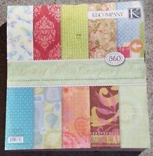 K & Company 12 x 12  Paper Pad Best Of K & Company Too 360 Pages 8+ lbs of paper