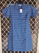 BNWT SIZE 22 CHEST 102cm GIRLS SCHOOL UNIFORM DRESS - DARK BLUE CHECK (KIDS ) DZ