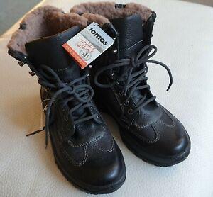 JOMOS Winterstiefel Snowboots * Größe 36 * Leder * neu * Wollfutter * schwarz