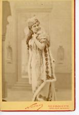 Nadar, Jeanne Nadaud, actrice Vintage albumen carte cabinet Tirage albuminé