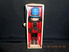 "1986 Wooden Nutcracker German Soldier/Guard w/Sidearm Christmas 10"" w/Box"