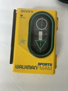Vintage SONY Walkman Sports WM-F45 AM/FM Cassette Player TESTED works