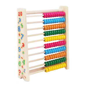 AU Wooden Bead Abacus Counting Maths Kids Learning Early Educational Toy Gift