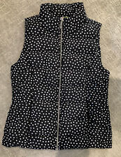 NEW! Tommy Hilfiger Womens Jacket Puffer Vest Black Polka...