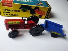 VINTAGE TOY LONESTAR FARM KING TRACTOR & TRAILER - 1258 (208) NR MINT CONDITION