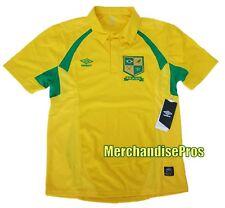 MEN'S UMBRO BRASIL FIFA WORLD CUP SOCCER POLO JERSEY BRAZIL SHIRT SMALL NEW!
