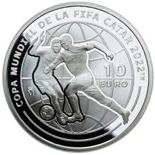 ESPAÑA: 10 euro plata 2021 proof COPA MUNDIAL DE LA FIFA CATAR 2022