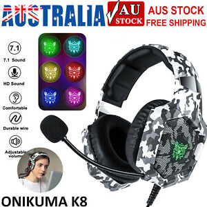 Onikuma K8 Gaming Headset with Mic Stereo Heavy Bass Headphone for Laptop PC PS4