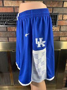 Nike Dri-Fit Authentic Kentucky Wildcats Basketball Shorts Men's Large NCAA Blue