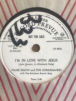 HANK SNOW 78 RCA Promo 20-4856 JESUS WEPT-I'm In Love With Jesus Country NM